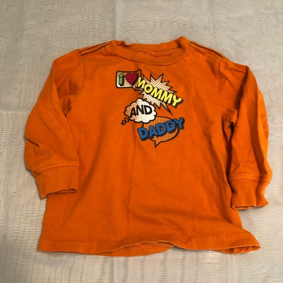 09f4ab712b32 okie dokie Shirts & Tops | 3 For 6 I Mommy And Daddy Long Sleeve ...